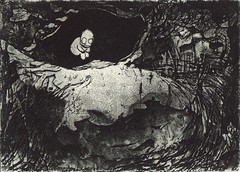 Hide n Seek (baoling) Tags: art etching printmaking hiding monochrone   linbaoling
