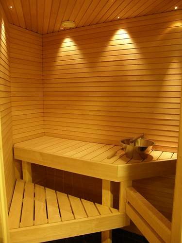 A sauna in my hotel bathroom