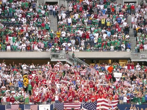 Sam's Army and Mexico fans