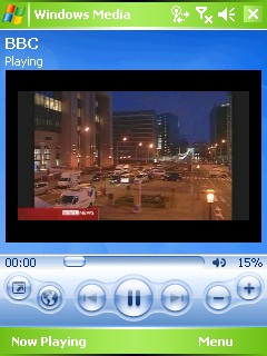 Windows Media Player and BBC News video (screenshot)