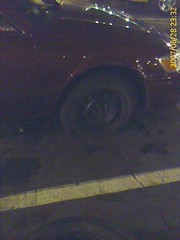 yay, a flat tire