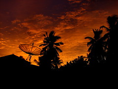 Home Sweet Home ( DD) Tags: trees sunset sky house home clouds dish coconut satellite palm maldives didi antennae addu hithadhoo beachvilla atcdd korovau