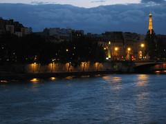 Eiffel Tower over the Seine