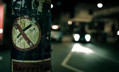 Einspritzung verboten! (theurbannexus) Tags: sign night nikon australia melbourne victoria vic flickrmeet prahran flickrwalk grevillest d80 melbourneatnight melbflickrjuly2007 svh07