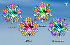 "New Desktop-Icon Set ""Jewel Flowers"""