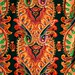 Black Paisley Fabric by Annie Butterfly