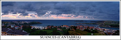 Suances (Cantabria) (Fran Barrero (venus-photo)) Tags: sunset sea sky espaa beach atardecer mar spain playa panoramic cielo panoramica franbarrero cantabria suances sm2818
