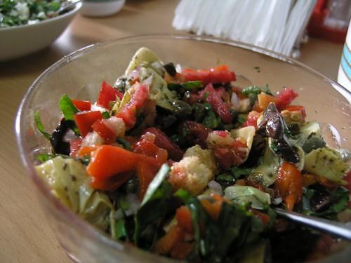 CAPERS + tomato, basil artichoke salad