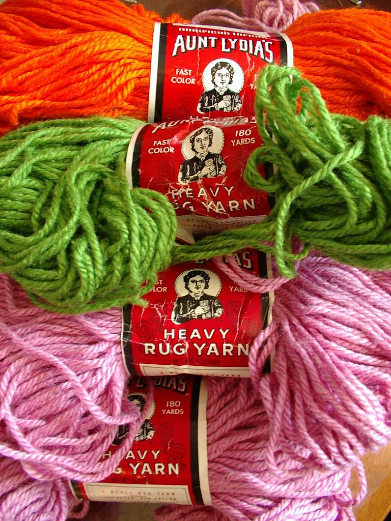 A= Aunt Lydia's Rug Yarn