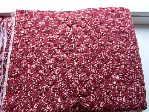 quilted fabric shell
