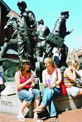 Loren Kate and Anna statue.jpg (Emma L Jones) Tags: shoreline cumbria barrowinfurness gofurness