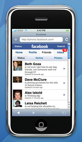 Facebook Friends on iPhone