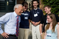 Bob Schieffer and Saint Anselm College Students
