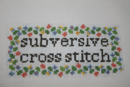 Subversive Cross Stitch Kit