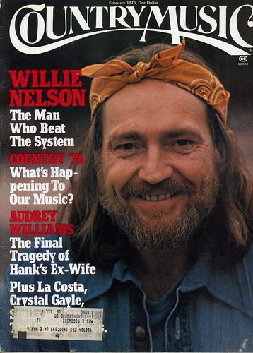 Willie Nelson Country Music Magazine February 1976 Www