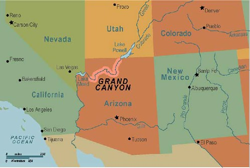 Grand Canyon map par mr.holmboe