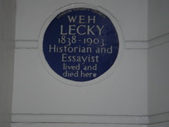 Photo of W. E. H. Lecky blue plaque