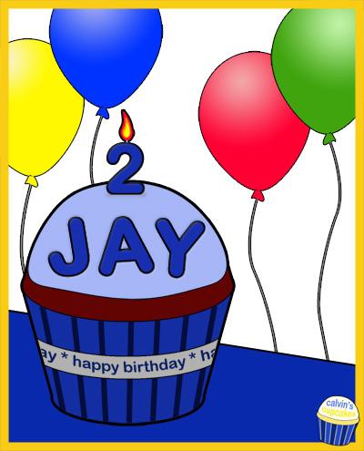 Jay's 2nd Birthday Cupcake