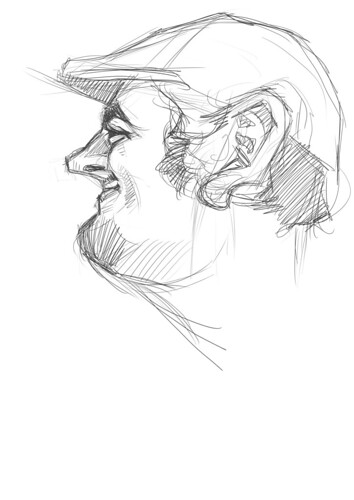 digital sketch of Jaume Cullell - 1