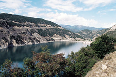The dam of Polifitos (dkilim) Tags: lake water river nikon fuji superia dam artificial greece macedonia 200 fm2  polifitos aliakmonas