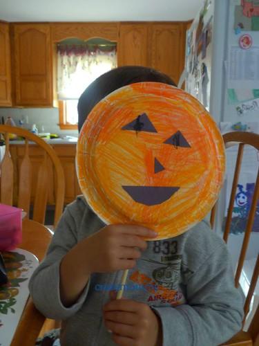 Jack-o-lantern mask