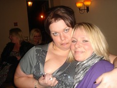 Friends (Chubby Lizzie) Tags: english girl smile hair hug friend elizabeth mother lizzie lass mum blonde cuddle chubby chubbygirl
