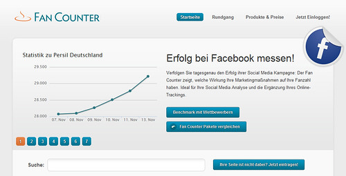 Facebook Fan Counter-Screenshot