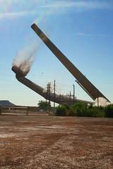 Hurley Smokestack Demolition