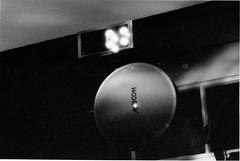 20 Isher Unit Transceiver & Dish (grogley) Tags: film newjersey bell labs infrared 1986 holmdel att fso loson belllaboratories crawfordhill freespaceoptics