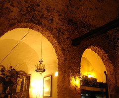 Sa Capella Restaurant, Ibiza (juliaclairejackson) Tags: lighting dinner restaurant interiors arch arches ibiza converted dining archway eivissa eveningmeal monastry balearics evissa sacapella