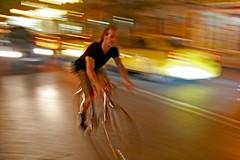 Night speed - IMG_6338 ed (Dimitris Papazimouris) Tags: road bike mystery night speed greek nightshot centre blurred athens greece nightlife panning canon30d supershot interestingness169 i500 canon24105f4 athenasstr explore230607