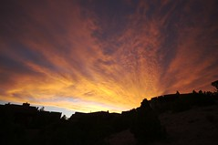 Still no rain, but still (wycombiensian) Tags: sunset newmexico santafe