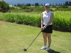 Lindsay on the Tee at Plantation (mfaj5) Tags: maui plantation kapalua