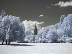 Infrared Cathedral (S1ON) Tags: trees sky tree water gardens clouds canon cathedral powershot churchill infrared salisbury s2is wiltshire canonpowershots2is canons2 s2 canonpowershot r72 powershots2is canons2is powershots2 canonpowershots2 s1on churchillgardens