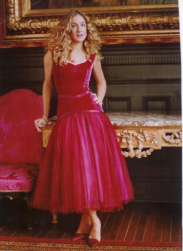 sjp red dress