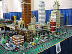 2006 NMRA National Train Show - MichLTC display (DecoJim) Tags: philadelphia michigan michlug nmra legotrains legocity legometropolis nationalmodelrailroadassociation michltc legotrainclub nationaltrainshow nmra2006 nmrants michiganlegotrainclub legodetroit legomodelbuildings legopepsibuilding legodavidstottbuilding legoibmbuilding legomichigan