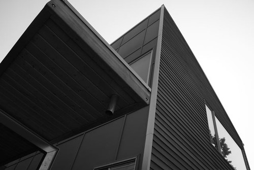 Clean, modern lines of the Newport District Modern House Project