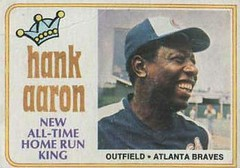 Hank Aaron Home Run King Baseball Card