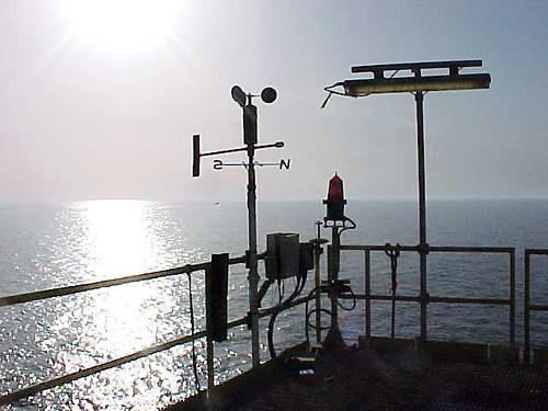 wind sensor at sunset