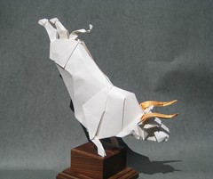 The White Bull of Heaven (Joseph Wu Origami) Tags: illustration joseph design origami wu