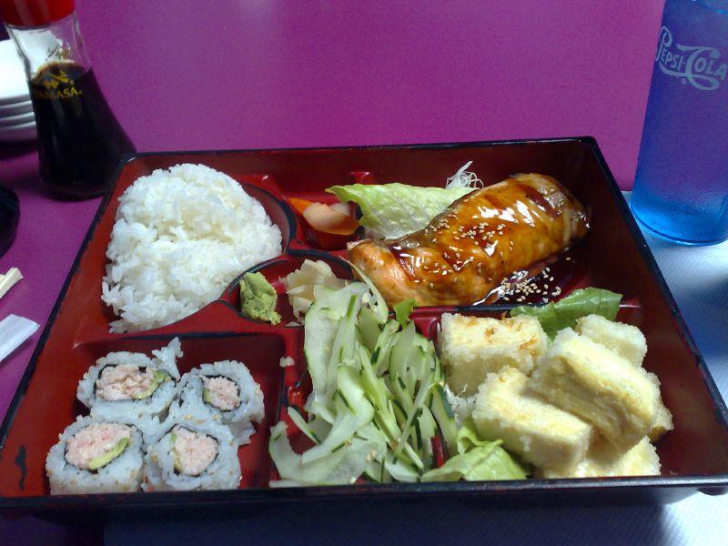 Salmon & Agedashi Tofu Bento