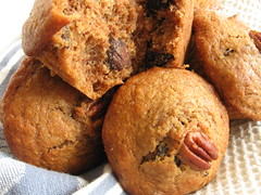 Whole Wheat Bran Muffins with Figs and Pecans