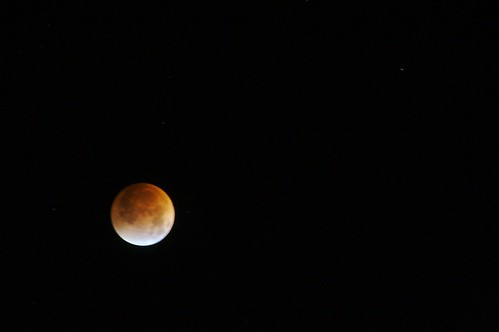 Today's lunar eclipse at totality