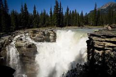 Athabasca Falls (melmark44) Tags: canada river waterfall glacier alberta athabascariver jaspernationalpark athabascafalls athabasca cloudlesssky rockflour glacialriver melmarkowitz