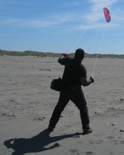 Kiting at Ocean Shores, WA