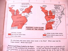 """Western Land Claims Ceded by the States"" from Cole's ""Atlas of American History"""