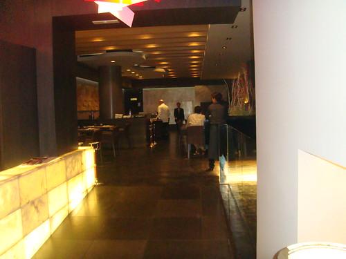 Vista del restaurante desde la entrada