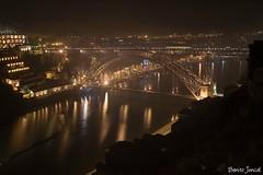 Oporto. (benitojuncal) Tags: portugal rio night river puente noche ponte porto douro oporto duero