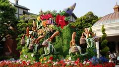 SPRING CARNIVAL (haphopper) Tags: flowers art word logo spring topiary font  themepark tokyodisneysea 2010 tds springcarnival tdr      americanwaterfront