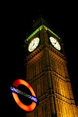 under the big ben take 2 (Mr.Zak) Tags: uk light england london tourism westminster sign night underground metro united tube housesofparliament kingdom bigben landmark tourist clocktower sights